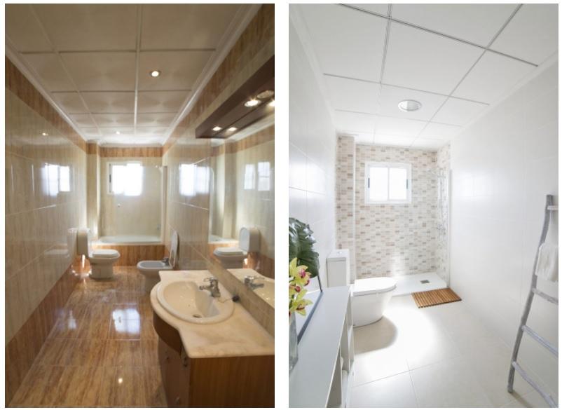 antes y despues cambiar bañera por ducha